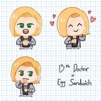 13th Doctor x Egg Sandwich
