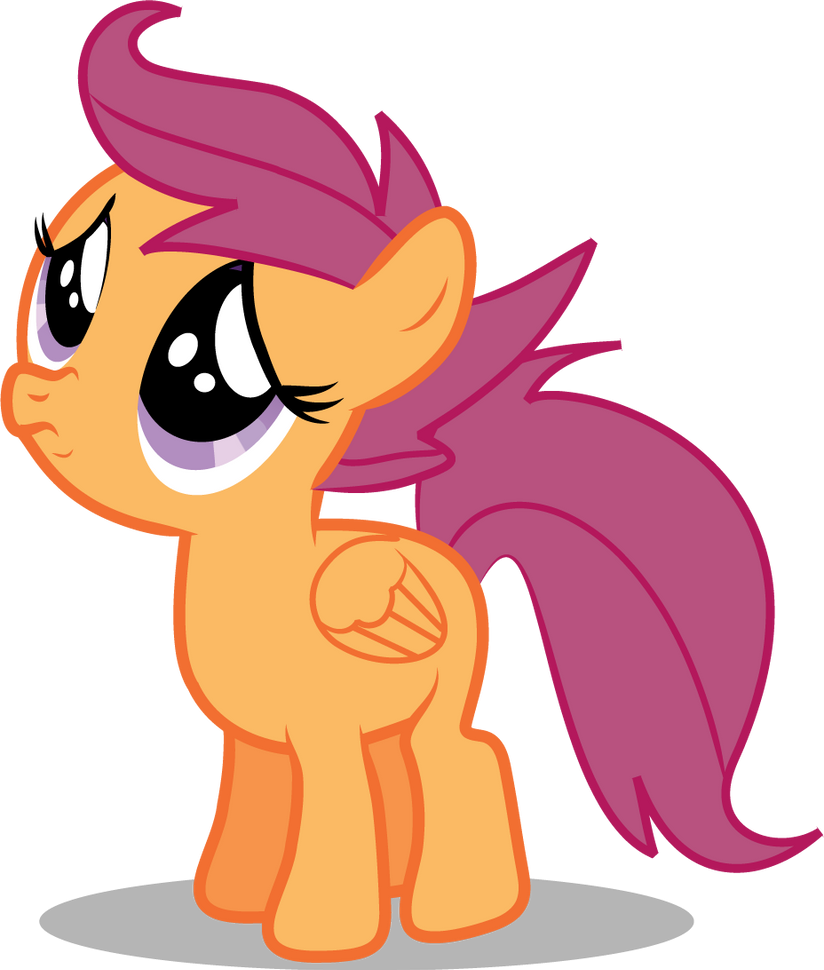 Sad Eyed Scootaloo by Creshosk