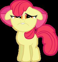 Sad Faced Apple Bloom by Creshosk