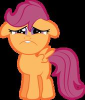 Sad Faced Scootaloo by Creshosk