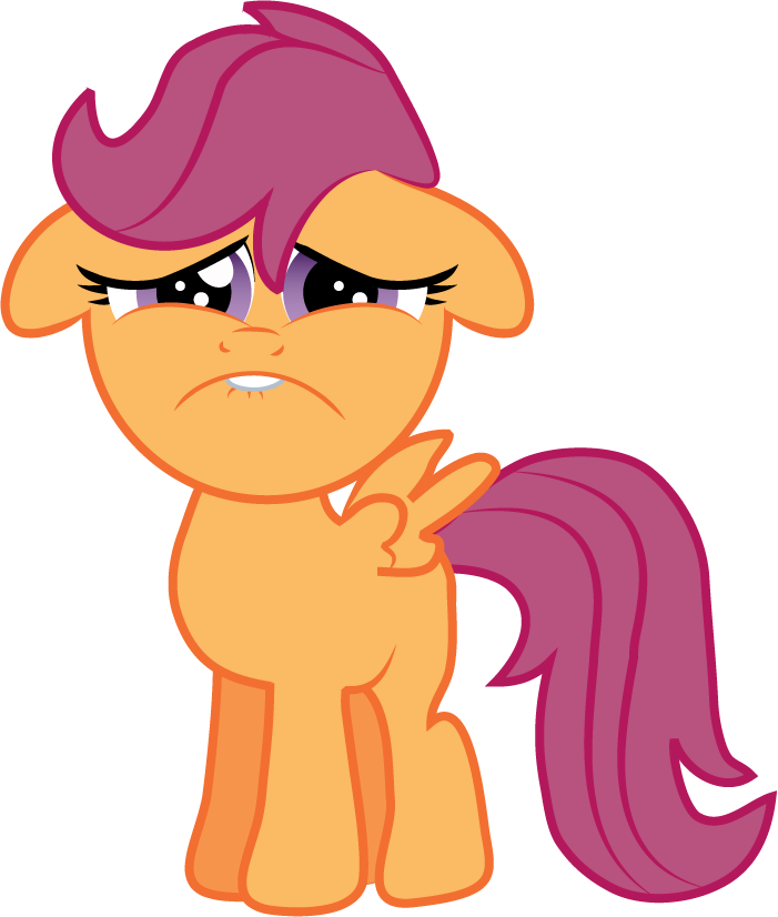 Sad Faced Scootaloo by Creshosk