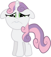 Sad Faced Sweetie Belle by Creshosk