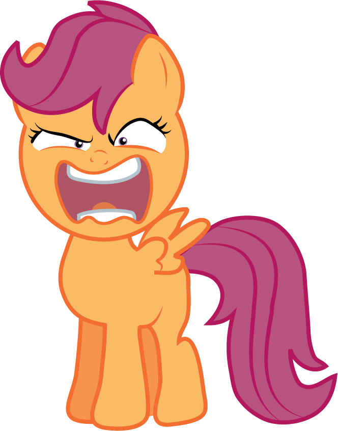 Scootaloo - Rage by Creshosk