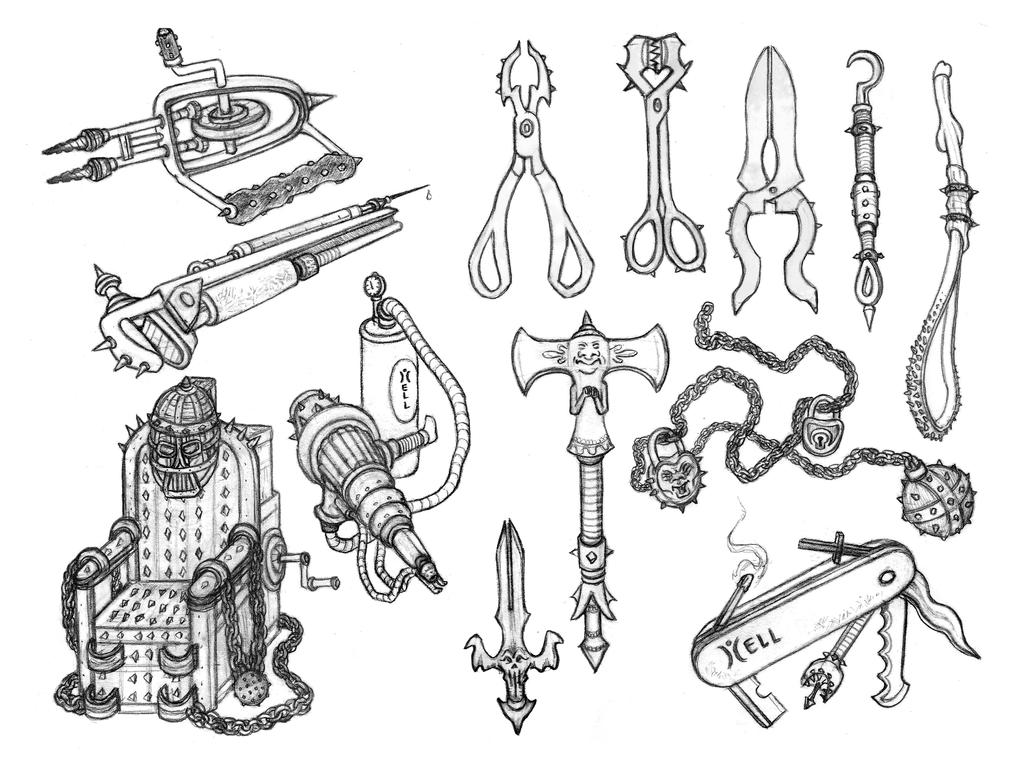 Torture Weapons by Papposilenos