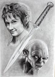 Bilbo and Gollum by ochopanteras