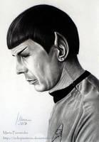 Spock (Leonard Nimoy) by ochopanteras
