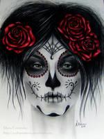Skull roses by ochopanteras