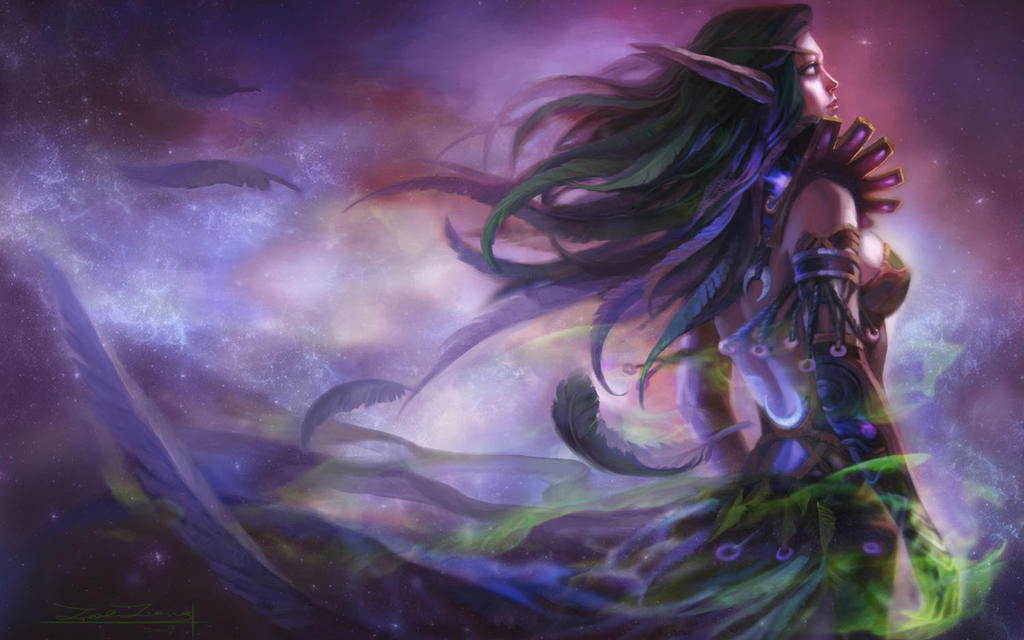 WOW Tyrande Whisperwind HD Desktop Wallpapers