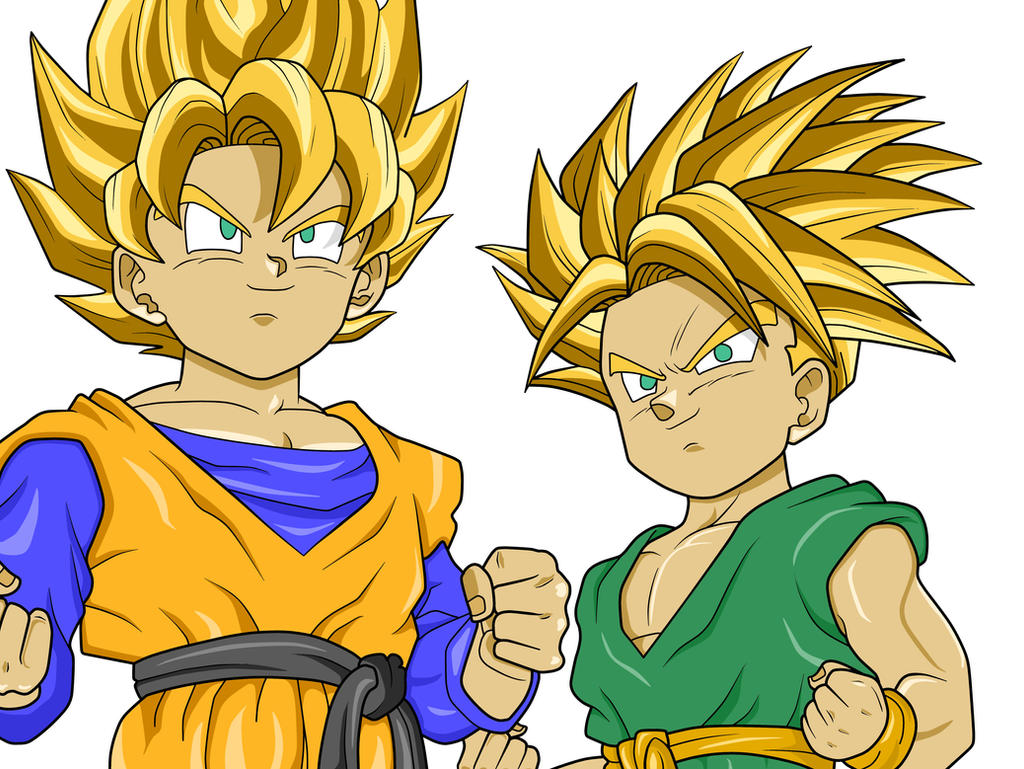 Goten and Trunks Super Saiyan