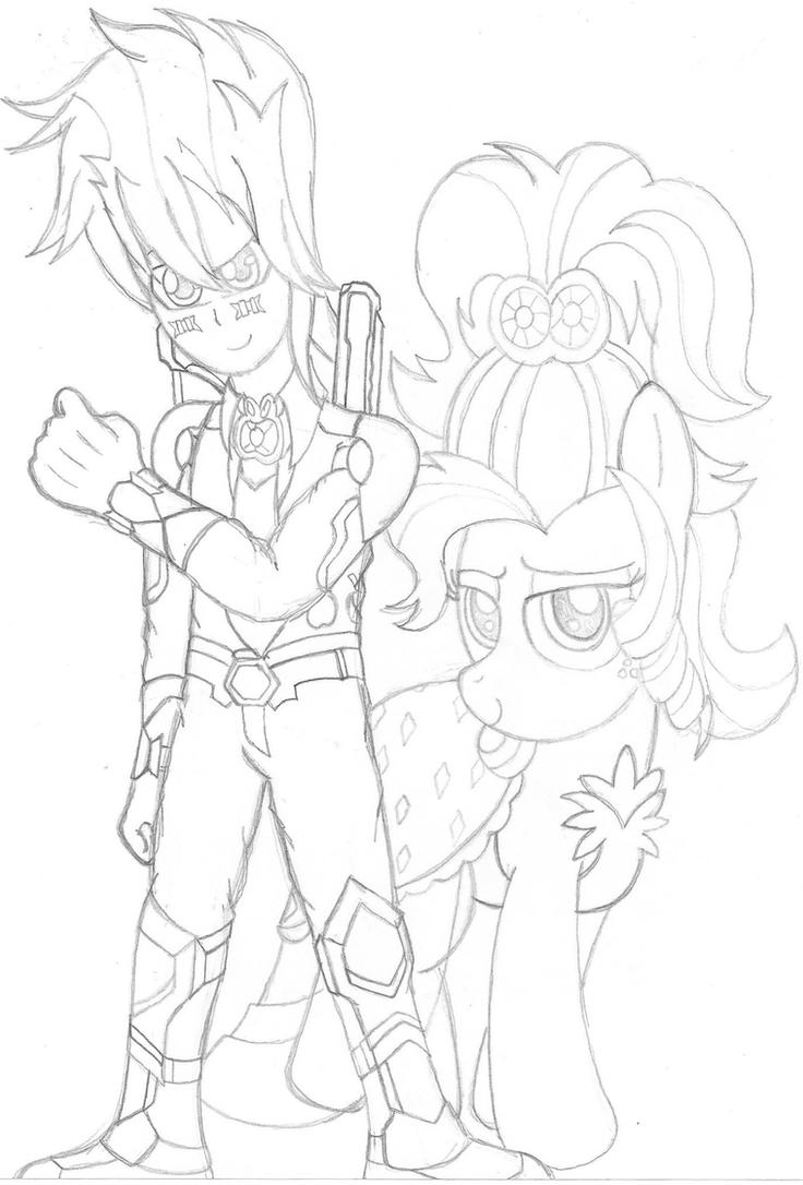 Formal Bullet and Apple Jewel (Sketch) by PiplupSTARSCommander