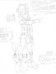 Edgar and Carmilla (Sketch) by PiplupSTARSCommander