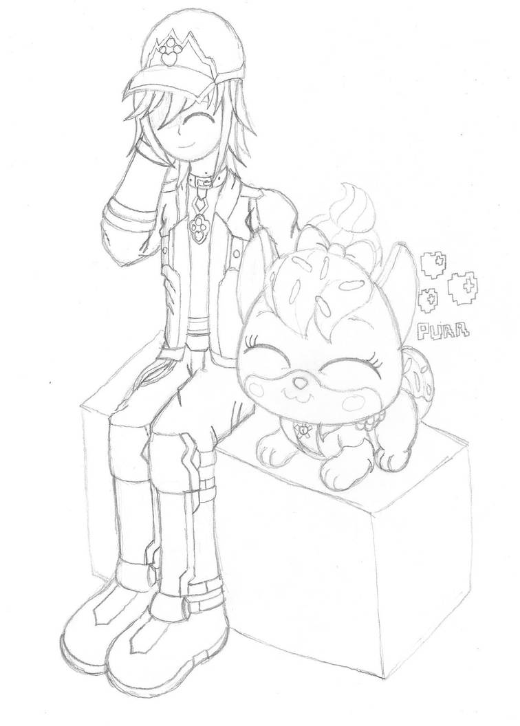 Toby Chillin (Sketch) by PiplupSTARSCommander