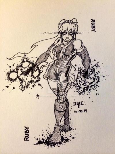 Inktober 30: Ruby by CharismaKillsStudios