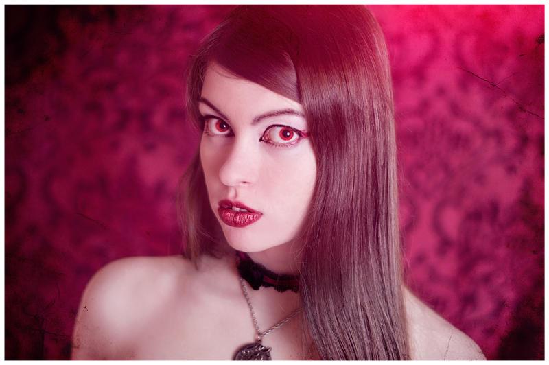 Red Velvet Portrait by Mircalla-Tepez