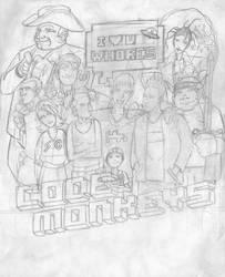 Code Monkeys -rough sketch-