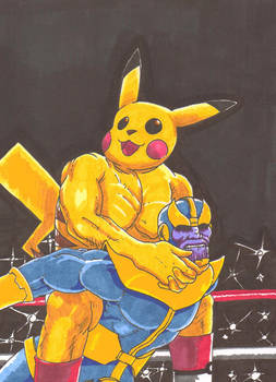 Pikachu vs Thanos