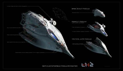 modular spaceship by Scharborescus