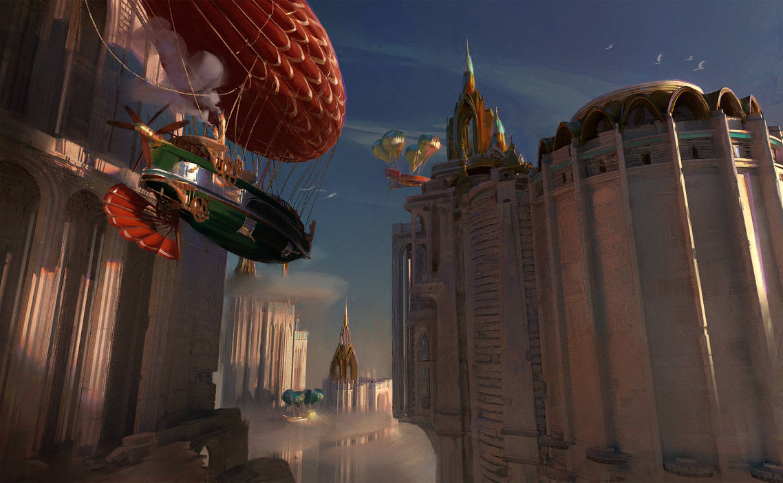 Airships by Scharborescus