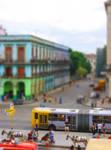 Tilt-Shift Cuba City Scene
