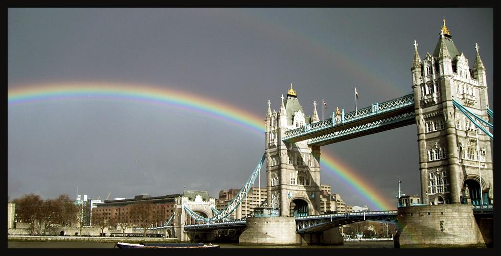 London's Tower Bridge rainbow by 3191