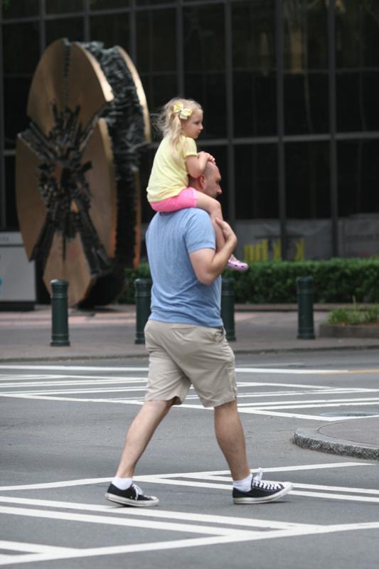 Daddy's shoulders by jwebbermedia