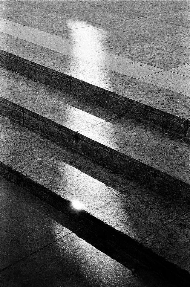 Sunbeam on Stairs by jwebbermedia