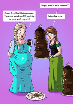 Elsa and Anna - Weight Gain PART 2/5 (Commission)