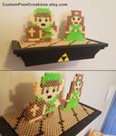 Link And Zelda Shelf by CustomPixelCreations