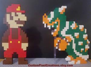 LEGO Mario and Bowser