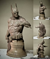 Batman Bust by glaucolonghi