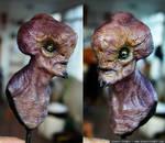 Alien bust painted