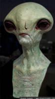Alien Bust painted 2