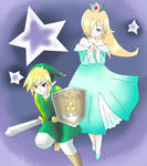 Commission - Rosalina and link