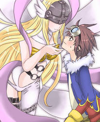 Request -Angewomon and Daisuke by Mi-chan4649