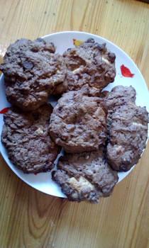 homemade double chocolate cookies