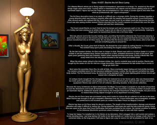 Electra the Art Deco Lamp Girl by Gildsoul by Gildsoul
