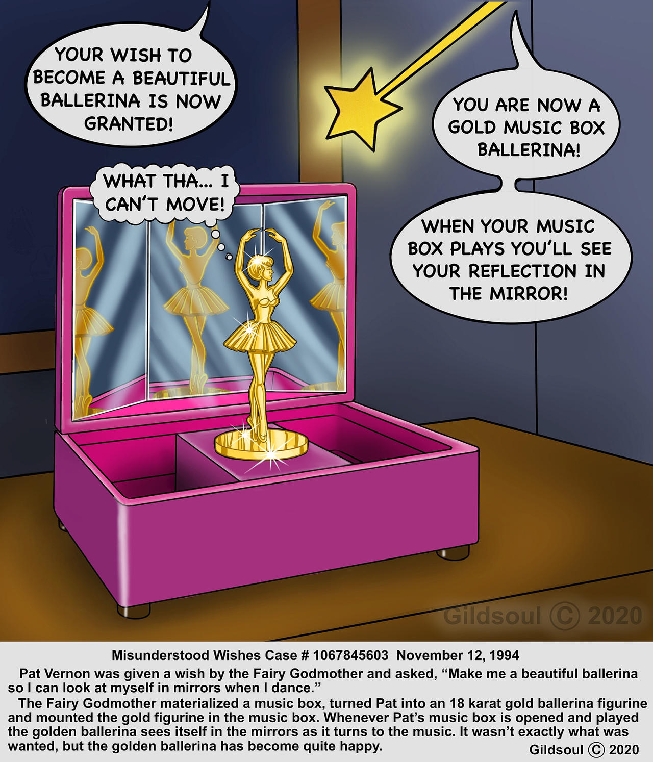 The Ballerina Wish Musicbox by Gildsoul