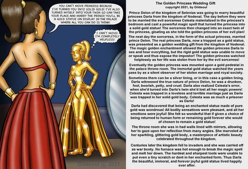 Golden Princess Wedding Gift by Gildsoul