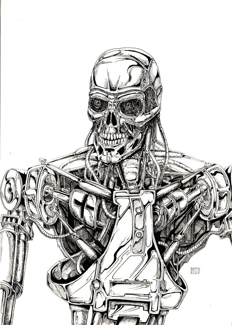 robot skeleton coloring pages - photo#9