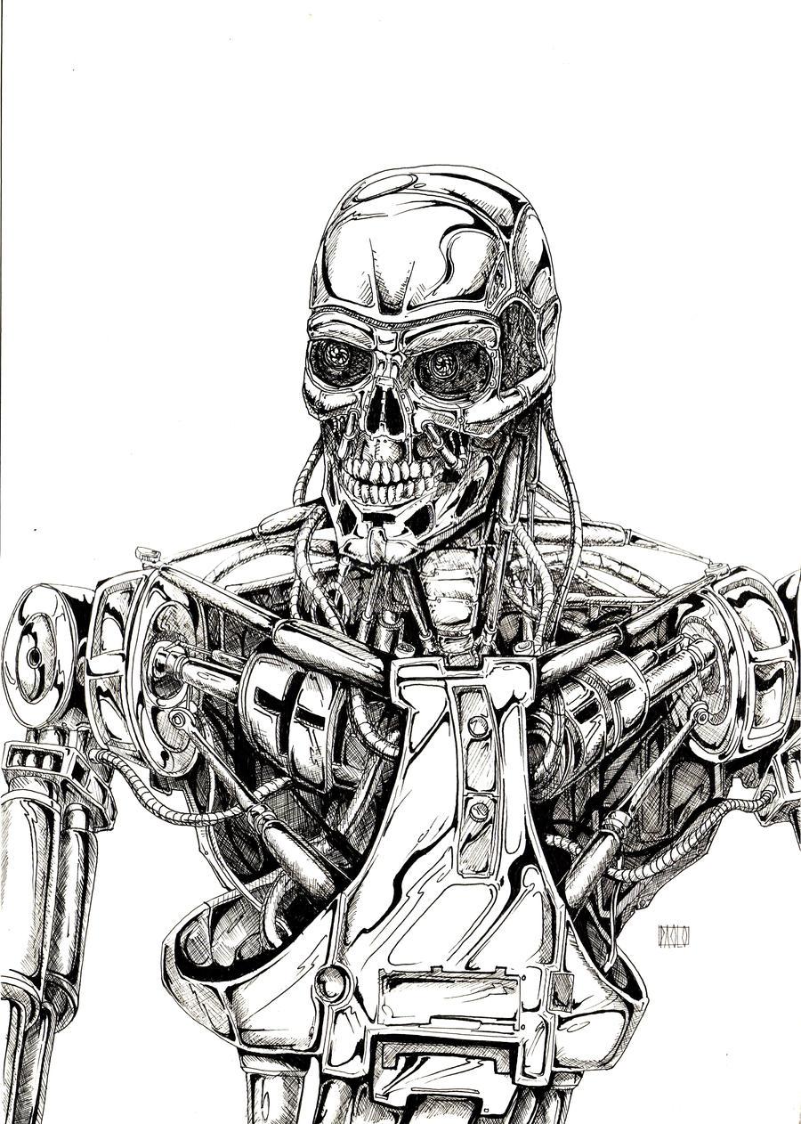 Terminator Sketch by PAOLOREDFIVE on DeviantArt