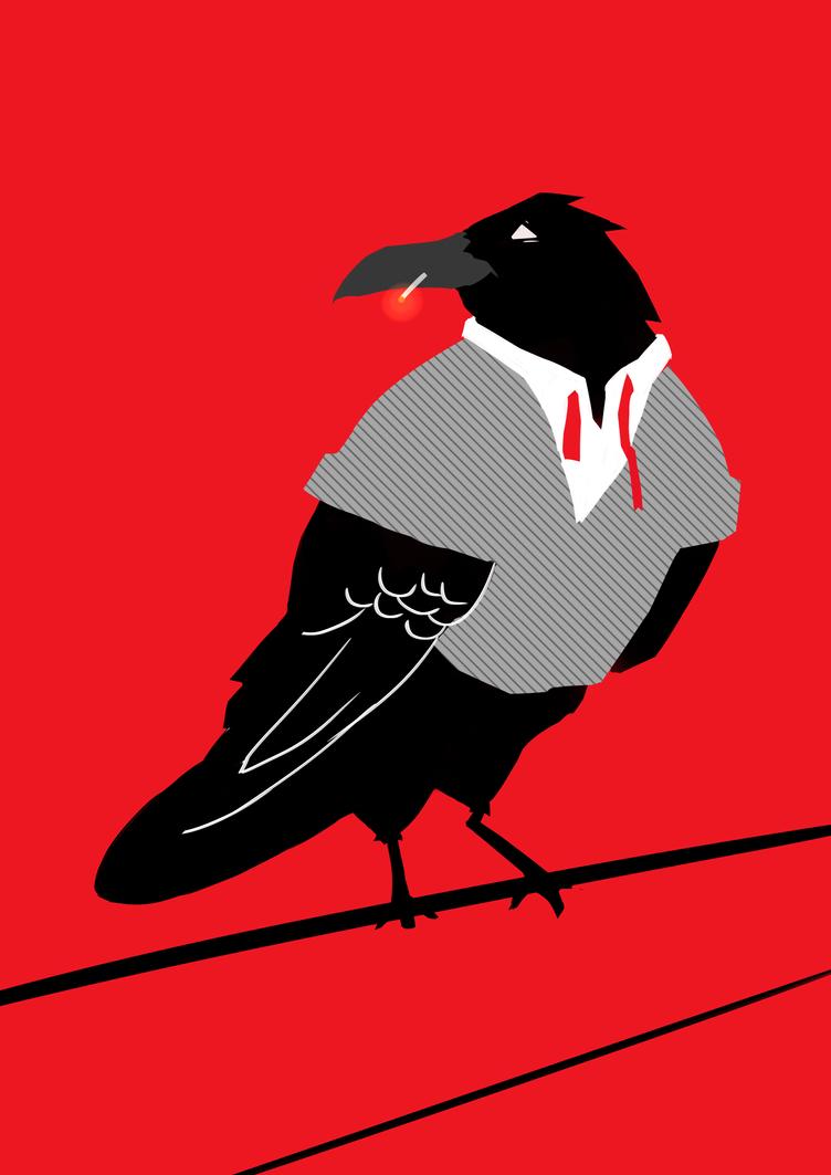 raven inktober by BruceHames