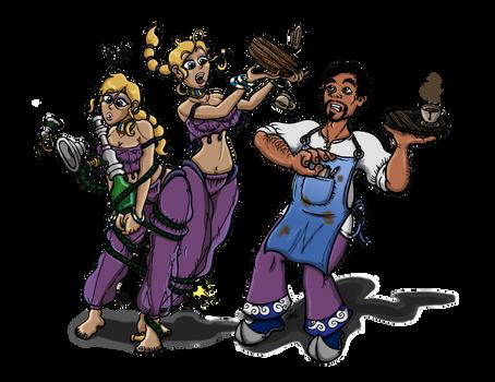 The Sip 'n' Smoke Crew by binkibonsai