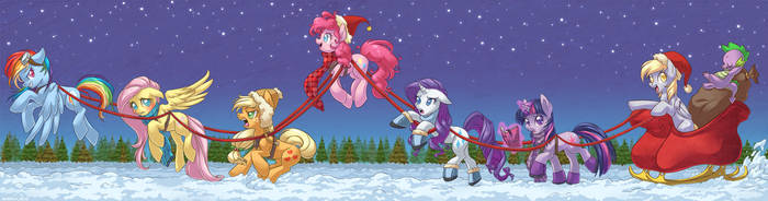 Dashing Through The Snow by albinosharky