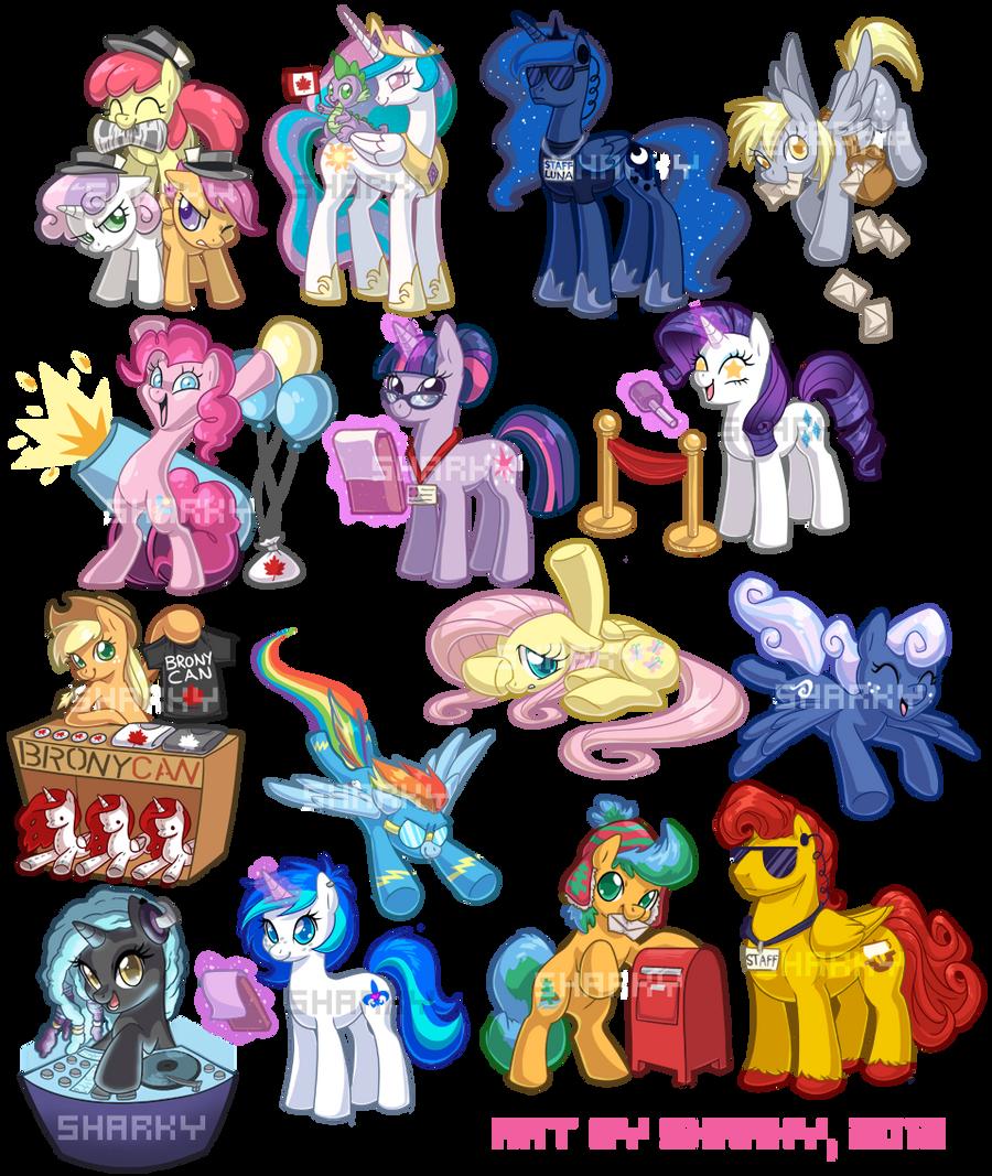 Ponies by Sharky by albinosharky