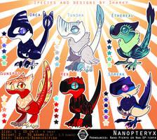 Sharky Sales: Nanopteryx Adoptables 3 [0/6 CLOSED] by albinosharky