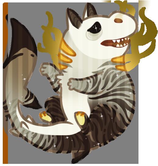 Birthday Shark Monster by albinosharky