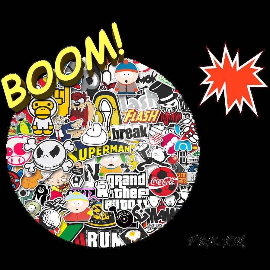 Boom sticker bomb by funkyoubaby