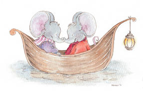 Elephant Mice in Love by mevagh