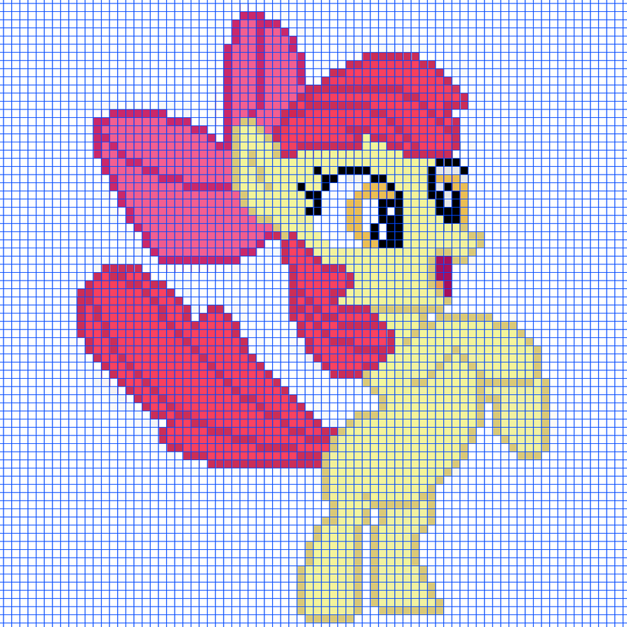 Pixel Art Of Applebloom Template By CaptainPineapple96 On