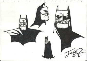 Batman Lineart Sketch by MangleDangle